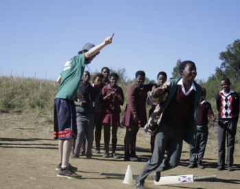 Volunteer coaching sports in Africa